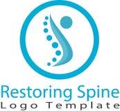 Reconstitution de l'épine et de l'image de logo illustration de vecteur