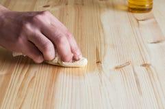 Reconstitution des meubles en bois Photo libre de droits