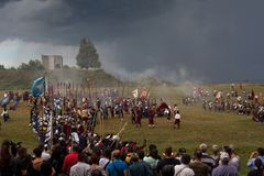 Reconstitution historique a d 1615 Images libres de droits