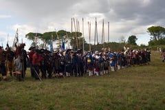 Reconstitution historique a d 1615 Image stock