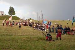 Reconstitution historique a d 1615 Photo stock