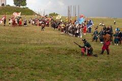 Reconstitution historique a d 1615 Photos stock