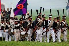 Reconstitution historique de bataille de Borodino en Russie Photo stock