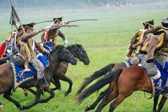 Reconstitution historique de bataille de Borodino en Russie Images libres de droits