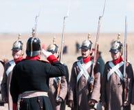 Reconstitution historique de la guerre criméenne Image libre de droits