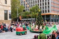 Reconstitution historique 2016 de Noël de Credit Union Images libres de droits