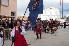 Reconstitution historique a de Palmanova d 1615 Images stock