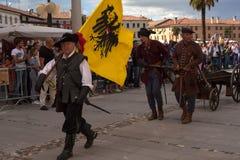 Reconstitution historique a de Palmanova d 1615 Image stock