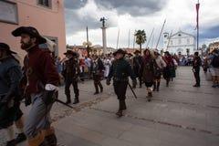 Reconstitution historique a de Palmanova d 1615 Images libres de droits