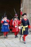 Reconstitution historique historique, Jardins del Baluard, Barcelone, Espagne Photos stock