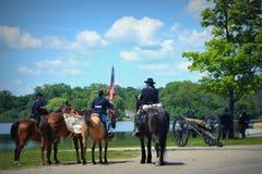 Reconstitution Pell Lake, WI de guerre civile Image libre de droits