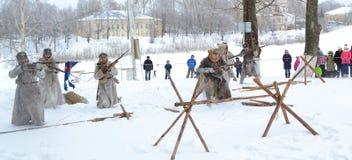 Reconstrução da batalha do exército Tsarist do russo Imagem de Stock Royalty Free