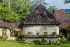 Reconstrução da casa da cultura de Chachapoyas foto de stock