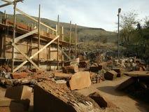 Reconstrução da igreja de StPoghos-Petros no distrito de Kotayk Fotografia de Stock Royalty Free