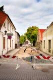 Reconstrução da rua Foto de Stock