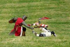 Reconstrução de uma batalha Fotografia de Stock Royalty Free