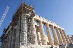 Reconstrução do Partenon em Atenas Foto de Stock Royalty Free
