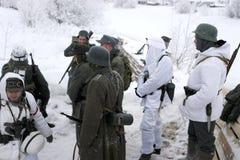 a reconstrução Militar-histórica 'a descoberta do bloqueio de Leninegrado na área do Nevskaya Dubrovka 'era i guardado fotos de stock royalty free