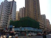 Reconstrução urbana em Hong Kong foto de stock