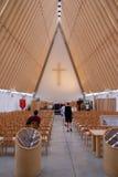 Reconstruções de Christchurch - catedral do cartão Imagens de Stock