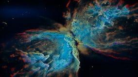 Reconstrucción única de la partícula de la nebulosa de la mariposa libre illustration