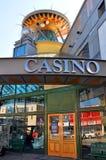Reconstrucción de Christchurch - casino abierto foto de archivo