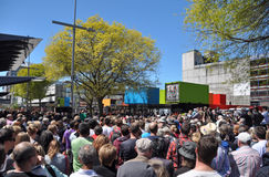 Reconstrucción de Christchurch - la venta al por menor central se abre Imagen de archivo libre de regalías