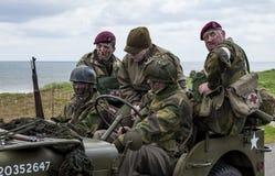 Reconstrucción de la batalla de la guerra mundial 2 Blyth, Northumberland, el 16 de mayo 2015 Foto de archivo