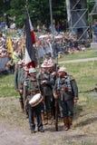 Reconstrucción de la batalla de Osovets Fotos de archivo libres de regalías