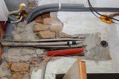Reconstrucción de la casa Foto de archivo