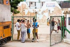Reconstrucción de la escuela, Cuba Imágenes de archivo libres de regalías