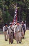 Reconstrucción de la guerra civil Fotografía de archivo