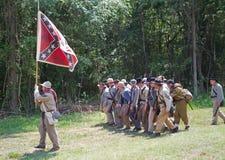Reconstrucción de la guerra civil Foto de archivo libre de regalías