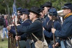 Reconstrucción de la guerra civil de Moorpark Imagen de archivo libre de regalías