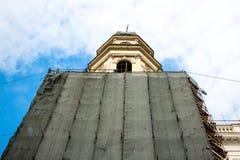 Reconstrucción de la iglesia Fotografía de archivo libre de regalías