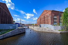 Reconstrucción de la nueva isla de Holanda en St Petersburg Fotografía de archivo