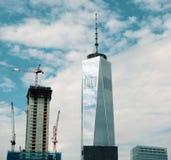 Reconstrucción de las torres gemelas Fotografía de archivo libre de regalías