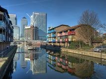 Reconstrucción 2008 de los Docklands de Londres Foto de archivo libre de regalías