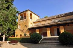 Reconstrucción de un domus romano, sitio arqueológico de la ciudad romana de Italica, Andalucía, España Fotos de archivo libres de regalías