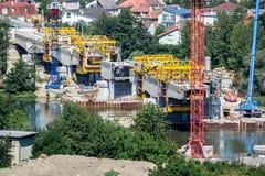 Reconstrucción de un puente Fotos de archivo