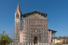 Reconstrucción de una iglesia Fotos de archivo libres de regalías