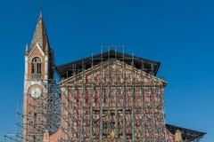 Reconstrucción de una iglesia Imagenes de archivo