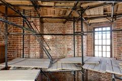 Reconstrucción del campanario Foto de archivo