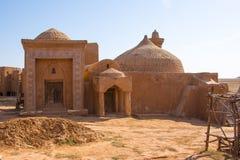 Reconstrucción del capital de la horda de oro Sarai-Batu Fotografía de archivo