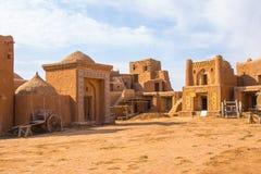 Reconstrucción del capital de la horda de oro Sarai-Batu Imágenes de archivo libres de regalías