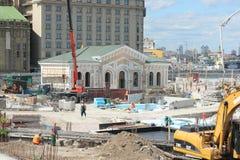 Reconstrucción del distrito viejo de la ciudad Fotografía de archivo libre de regalías