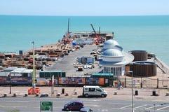 Reconstrucción del embarcadero de Hastings Foto de archivo