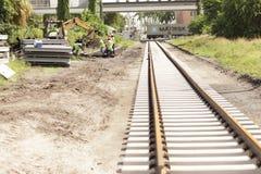 Reconstrucción del ferrocarril de Miami Foto de archivo libre de regalías