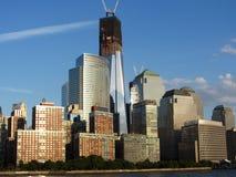 Reconstrucción del World Trade Center del río Hudson Imágenes de archivo libres de regalías