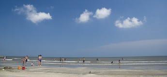 Reconstrucción en la playa Fotografía de archivo libre de regalías